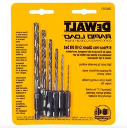 Dewalt Black Oxide Hex Drill Bit Set 6 Pack Power Tool Drill