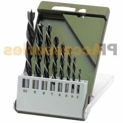 "Topzone® 8 Pieces 1/8"" - 3/8"" Brad Point Drill Bits Set for"