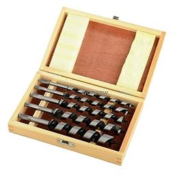 "Wennow 5pc 8"" Brad Point Drill Bits Set Wood Boring Extra Lo"
