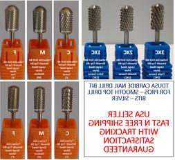 TDUSA CARBIDE NAIL DRILL BIT FOR PROS - SMOOTH TOP DRILL BIT
