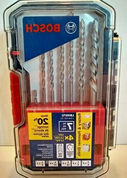BOSCH CEMENT/CONCRETE DRILL BITS 7 PC PK. ROTARY OR HAMMER D