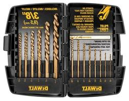Dewalt 14 Pc. Cobalt Pilot Point Drill Bit Set