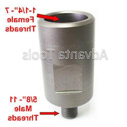 """Core Drill Bit Adapter: 5/8""""-11 Threaded Male to 1-1/4"""""""