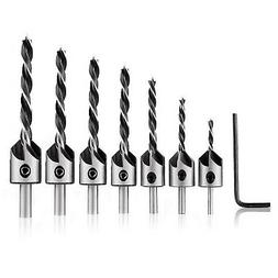 MOHOO Countersink Drill Bits, 7pcs Woodworking Countersink D