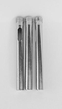 """3 Pack of 1/4"""" Diamond Core Drill Bits For Glass and Tile 