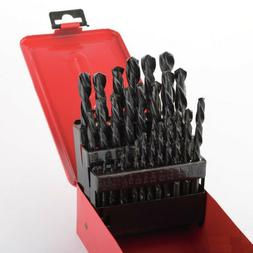 29pc Drill Bit Set High Speed Bits Steel Drill Bits w/ Metal