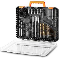 VonHaus 100-Piece Drill and Drive Bit Set with Titanium Coat