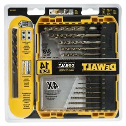 DEWALT DW1240 14-Piece Cobalt Drill Bit Set with Pilot Point