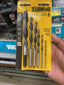 DEWALT DW1720 Brad Point Bit Set, 6-Piece