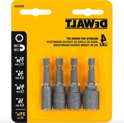8 Pack of Dewalt DW2229 Magnetic Nut Driver Hex Shank Set