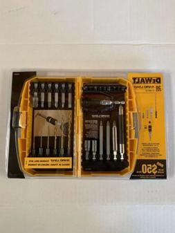 DEWALT DW2520F 30-Piece Rapid Load Set with Tin Drill Bits