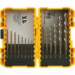 DEWALT Cobalt Drill Bit Set with Pilot Point, 14-Piece