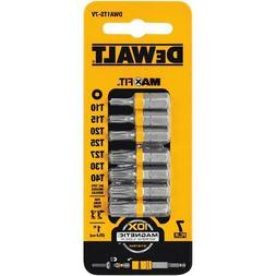 "DEWALT DWA1TS-7V 1"" Steel Torx Security Bit Set 7-PC Optimiz"