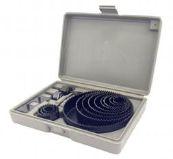 """Hole Saw Kit 16 pieces 3/4""""-5"""" Full Set in Case with Mandrel"""
