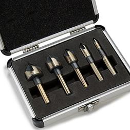 Industrial Countersink Drill Bit | 5pc Set Tri-Flat Shank Qu