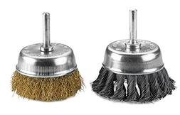 Wire Wheels Brush - 2 Pack Knotted & Crimped Cup For rust re