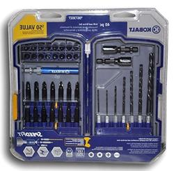 """Kobalt 40 Pc Drill and Drive Set - 1/4"""" Hex Shank, Speed Fit"""