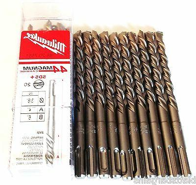 "10 MILWAUKEE 3/8"" X 6"" SDS PLUS CARBIDE TIP MASONRY HAMMER D"
