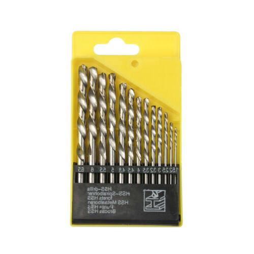 13PC Drill Hard Metal Stainless 1.5-6.5mm
