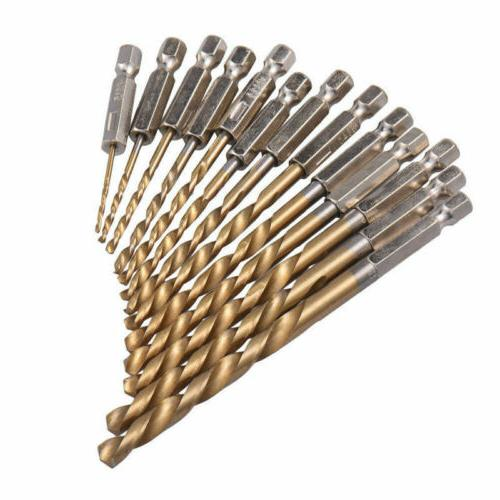 13PCS Cobalt Drill Bits For Hard Metal Stainless Steel US