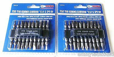 "20 GRIP 2-1/2"" DOUBLE ENDED POWER DRILL SCREW DRIVER BITS PH"