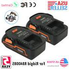 2PCS 18 Volt Replacement Li-Ion Drill Battery for RIDGID R84
