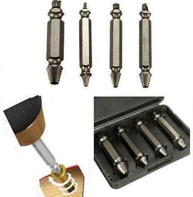 4pc Screw Extractor Easy Out Drill Stud Damage