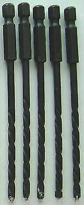 "5 Dewalt Rapid Load Masonry Hexed Shank 5/32"" Drill Bits_Mad"