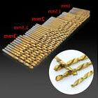 50 Pcs Mini Micro Round Shank Drill Bits Set Small Precision