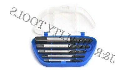 5pc screw extractor set easy out drill