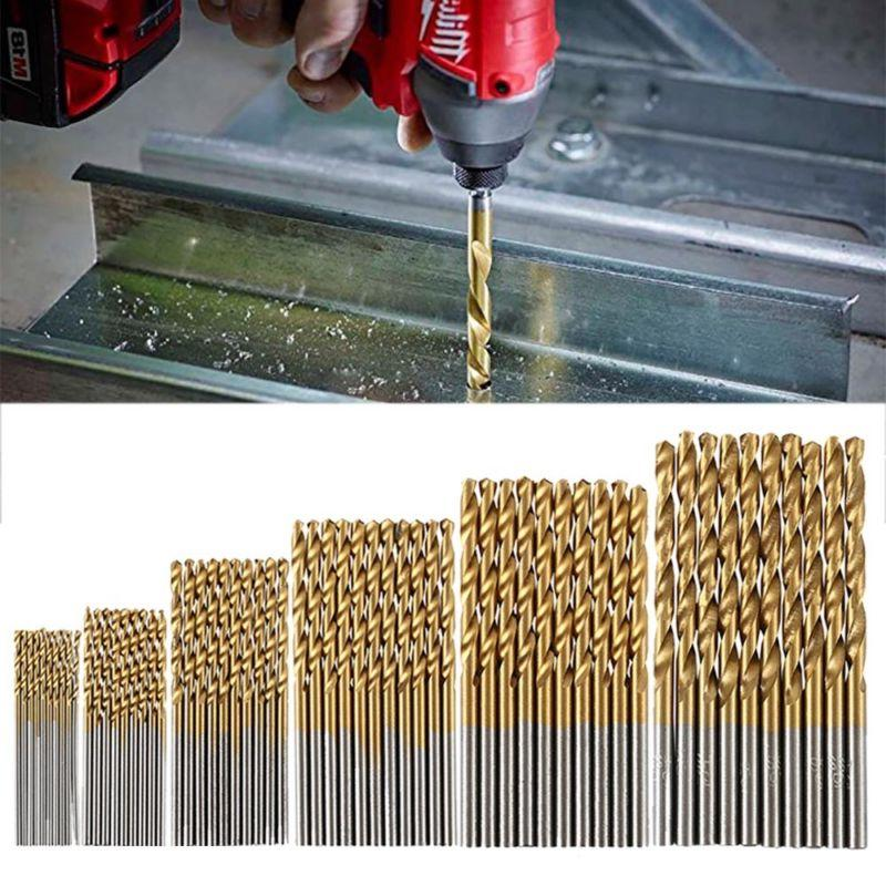 60 PCS HSS Cobalt Twist Drill Bits HSS-Co For Hard Metal Sta