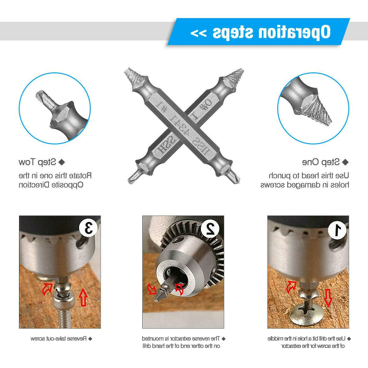 Screw Extractor Drill Bits Easy Out Reverse
