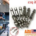 6pcs Drill Tap HSS M3-M10 with 1/4 Hex Shank Combination Bit