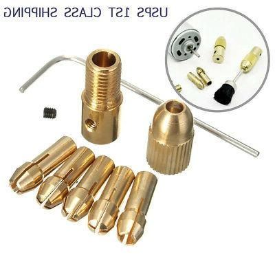8 Pcs 0.5-3mm Small Electric Drill Bit Collet Mini Twist Dri