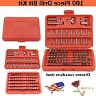 100 Piece Quick Change Drill Bit Kit Craftsman Tools Accesso