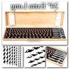 """Auger Drill Bit Set 8pc 24"""" Extra Long Wood Drills New With"""