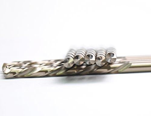 DrillForce x 2-7/8 Drill Bits, Steel Twist Jobber Can drill Ideal for DIY, general and engineeri