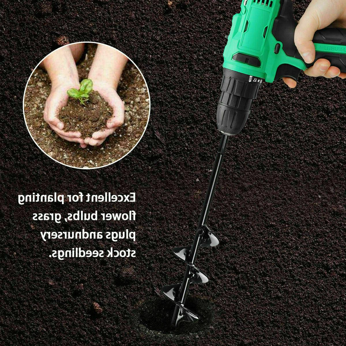 Garden Auger Hole Drill Universal Yard Planting Digger Tools