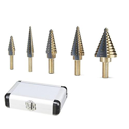 CO-Z Hss Multiple Step Drill with Aluminum Case