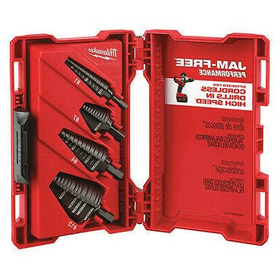 HSS Step Drill Bit Set 1/8-1-3/8 In, 4 pc MILWAUKEE 48-89-92