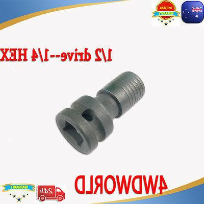 Impact Driver chuck ADAPTOR 1/2 drive 1/4 Hex drill bit for
