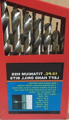 left hand drill bit set