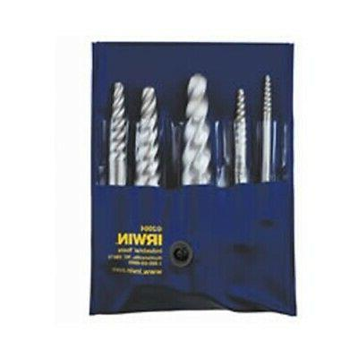 6 Piece Set  Spiral Screw Extractor Carded