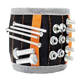 UnaMela Magnetic Wristband,Adjustable Belt Wristband Tools W