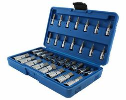 ABN Master Hex Bit Socket Set, Metric & SAE, S2 Steel and Cr