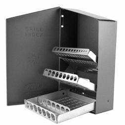 metal index organizer case for drill bits