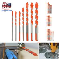 Multifunctional Triangle Drill Bits Ceramic Glass Punching H
