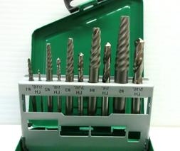 New Forney 10-Piece Left Hand Drill Bit and Spiral Screw Ext
