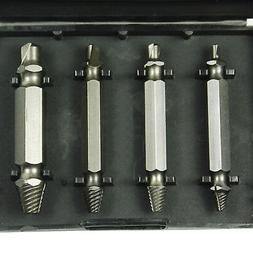 New Speed Out Screw Extractor Drill Bits 4 PCS Tool Set Brok