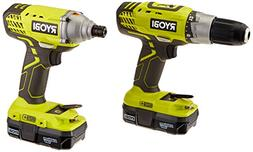 Ryobi ONE 18-Volt Lithium-Ion Cordless Drill/Driver and Impa